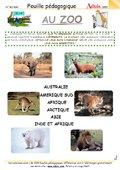 Fiches pedagogiques zoo