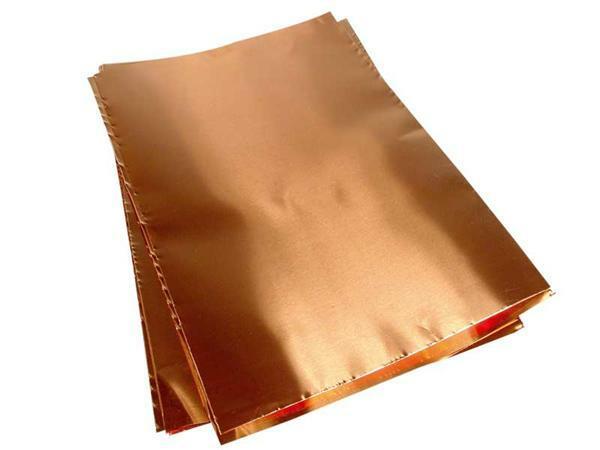 Feuille de cuivre souple 20 x 30 cm 0 1 mm 10 pce for Feuille de cuivre toiture