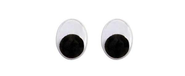 Yeux mobiles ovale - 50 pces, 8 x 10 mm