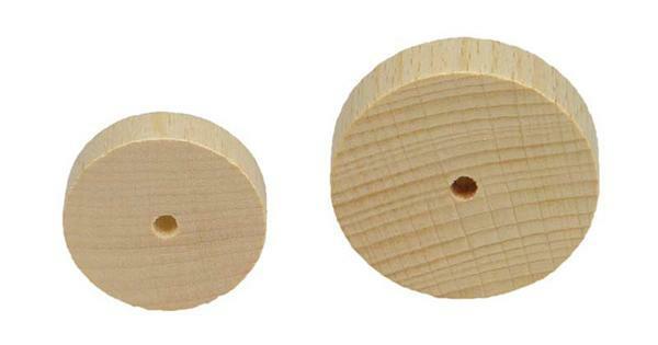 roues en bois lisses 10 pces 40 mm mat riel de. Black Bedroom Furniture Sets. Home Design Ideas