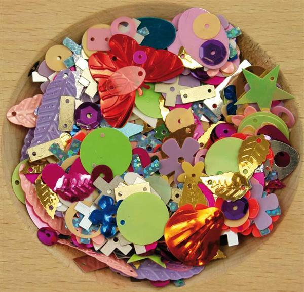 Sequins fantaisie - 20 g, assort.multicolore