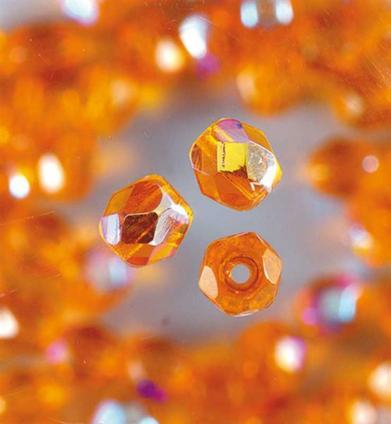 Perles de verre polies Ø 4 mm, orange