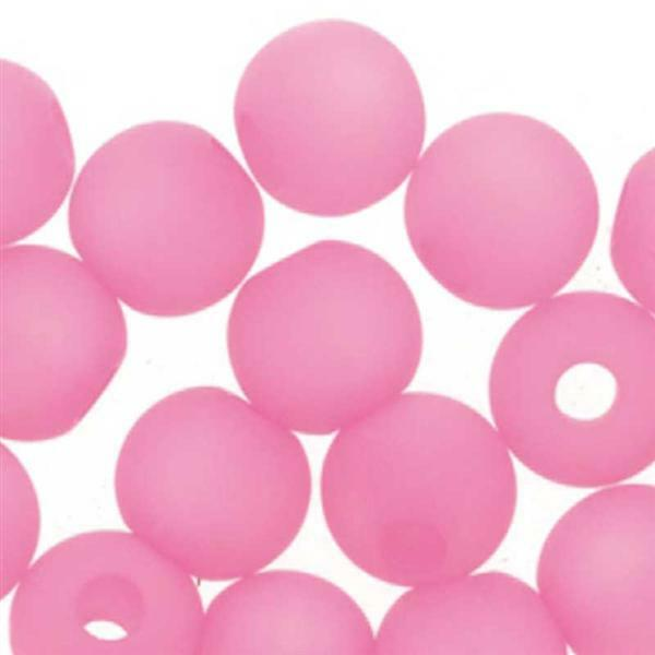 Perles de verre Polaris - 6 mm, pink