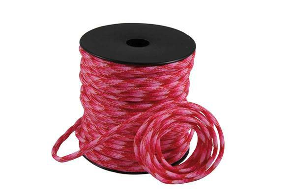 Paracorde 4 mm - 40 m, pink-rouge