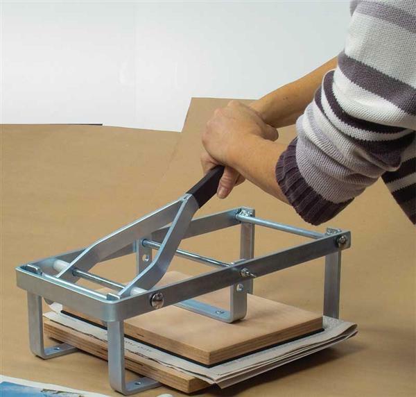 Levier presse manuel cr ations plastiques linogravure presse de compression pour linol um - Presse agrume manuel a levier ...