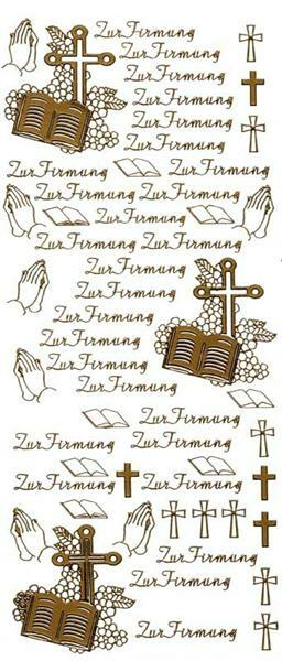 "Stickers - ""Zur Firmung"", or"