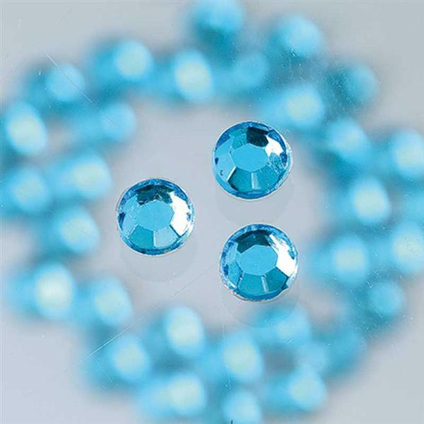 Pierres de strass - Ø 3 mm, 20 pces, bleu