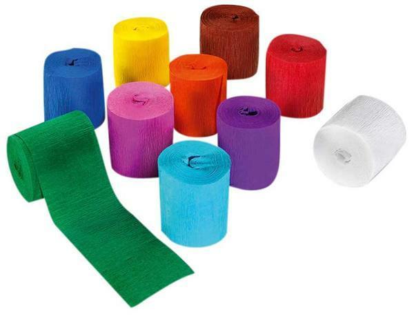 Ruban cr pon de d coration 10 pces papier et carton papiers divers papier cr pon - Decoration en papier crepon ...