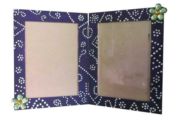 cadre photo double papier et carton articles mdf. Black Bedroom Furniture Sets. Home Design Ideas