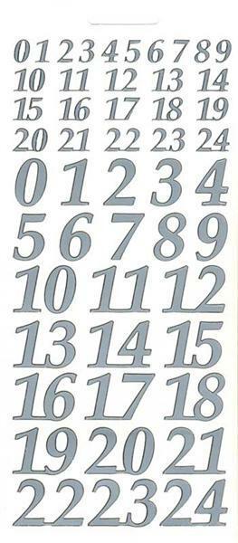 sticker chiffres pour calendrier de l 39 avent arg papier et carton accessoires de. Black Bedroom Furniture Sets. Home Design Ideas