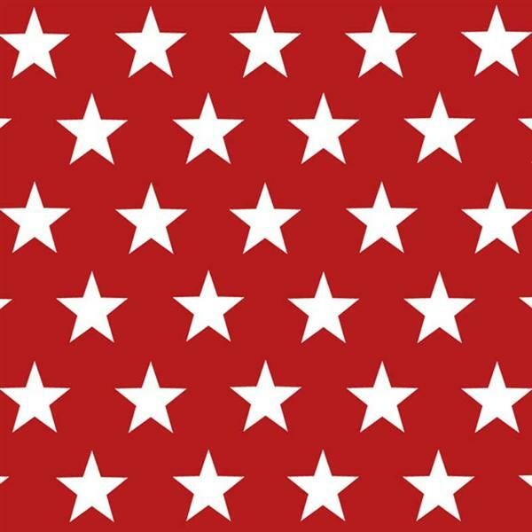 Serviettes - 20 pces, United Stars, rouge