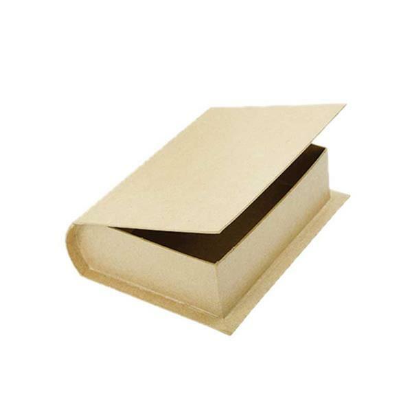 Boîte En Papier Mâché Livre Petit