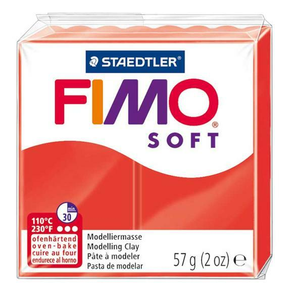 Fimo Soft - 57 g, rouge indien