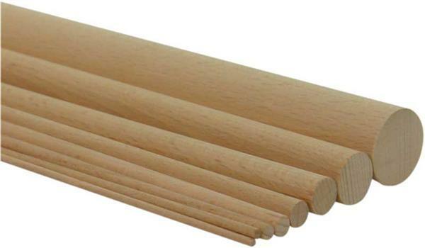 Tige ronde ds 6 mm d coupes sur mesure bois - Baguette bois ronde ...