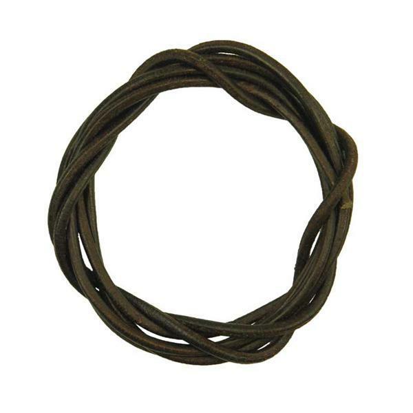 Lani re en cuir ronde env 2 mm brun fonc perles bijoux cha nettes accessoires - Laniere en cuir ...