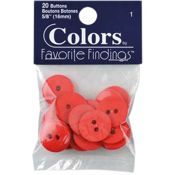 Boutons - Ø 15 mm, rouge clair