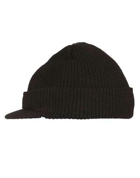 bbf071f1a1b77 Bonnet en laine avec visière - noir, taille unique acheter en ligne ...