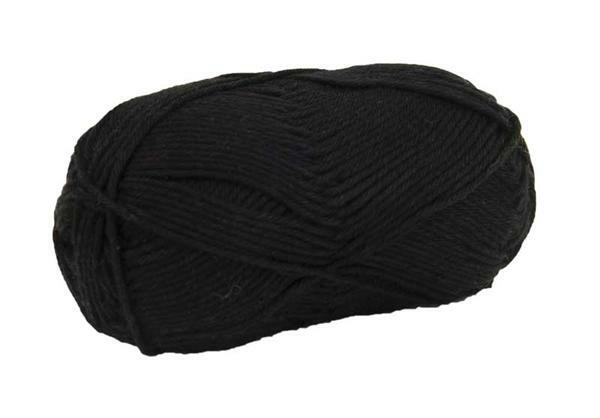 Laine Cotton Fun - 50 g, noir