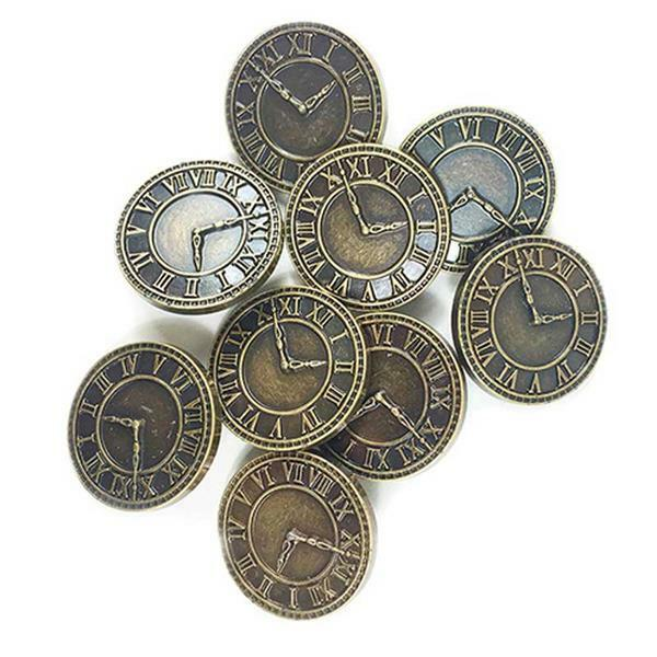 Boutons - clock, env 28 mm, 8 pces